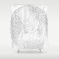 hunter s thompson Shower Curtains featuring [De]generated ArcFace - Hunter S. Thompson by ⊙ Paolo Tonon