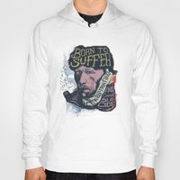 van gogh Hoodies featuring Van Gogh Typography Drawing by Bacht