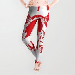 Skull-Ribs Tribal (RED) Leggings