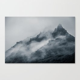 Fog Amongst The Cliffs Canvas Print