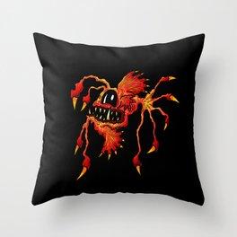 Brutus Angler Spiked Fish Black Throw Pillow