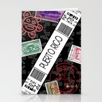puerto rico Stationery Cards featuring Welcome to Puerto Rico by Barney Ortiz