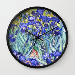 Vincent Van Gogh Irises Wall Clock