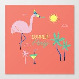 Corail Flamingo Canvas Print