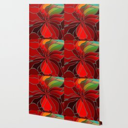 Abstract Poinsettia Wallpaper