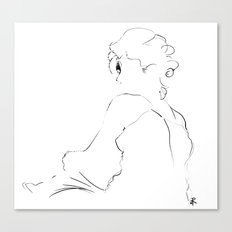 graphic sketch of a woman Canvas Print