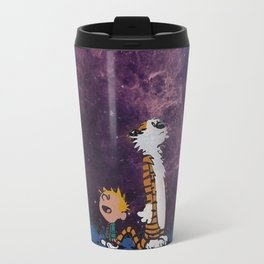 Calvin Hobbes Galaxy Travel Mug