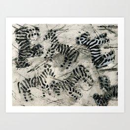 Striped Payamas Art Print