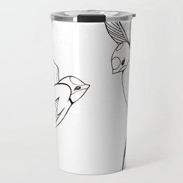 Lovebirds-Swallows Travel Mug