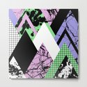 Textured Points - Marbled, pastel, black and white, paint splat textured geometric triangles by printpix