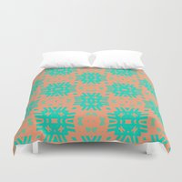 southwest Duvet Covers featuring Southwest Summer by Lisa Argyropoulos