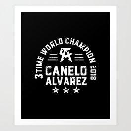 3 TIME WORLD CHAMPION 2018 CANELO ALVAREZ Art Print
