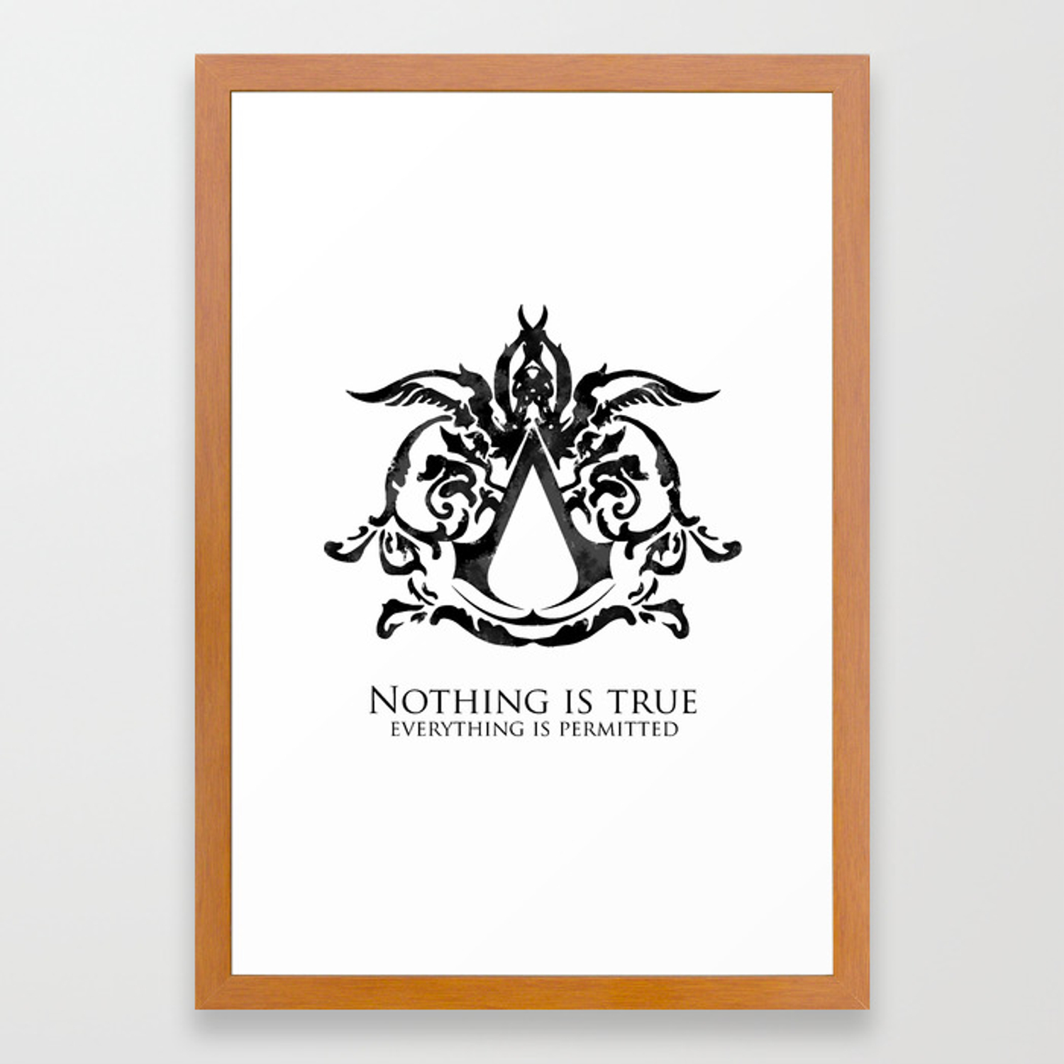 Assassin S Creed Nothing Is True Framed Art Print By Outbreak