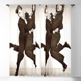 DavidBowie and IggyPop Print, Retro Photography Bowie, Iggy#Pop Poster Blackout Curtain
