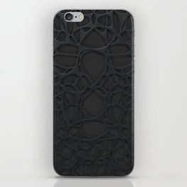 Black organic abstraction iPhone Skin