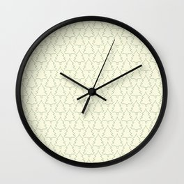 Pine forest pattern Wall Clock