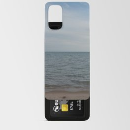 and the waves rolled in Android Card Case