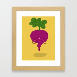 Shy Beetroot Framed Art Print
