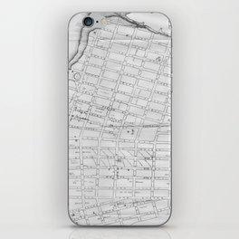 Vintage Map of Williamsburg Brooklyn (1827) iPhone Skin