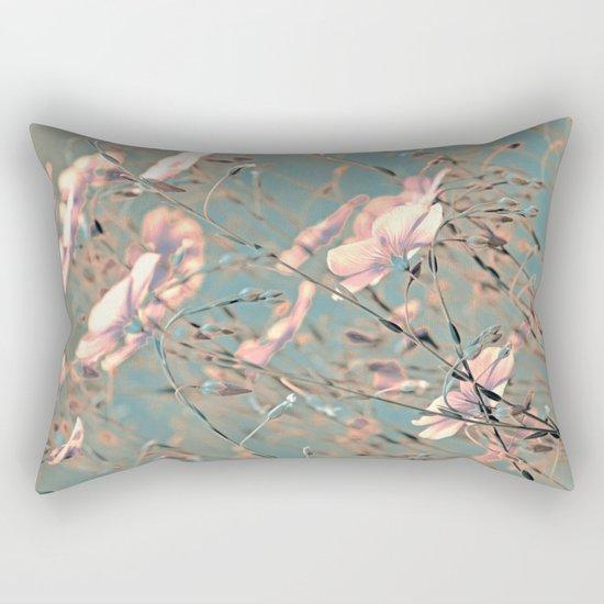Flax(silver). Rectangular Pillow