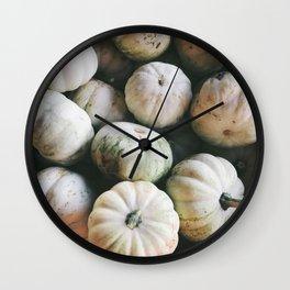 Pale Pumpkins Wall Clock