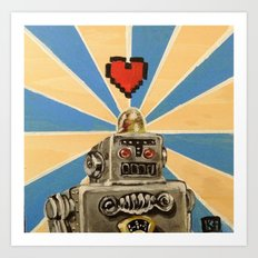 8 Bit Love Machine Art Print