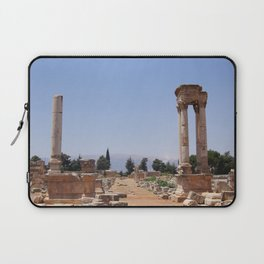 Ruins - Pillars & Mountains  Laptop Sleeve