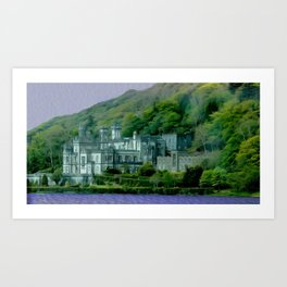 Kylemore Castle Photo Painting Art Print