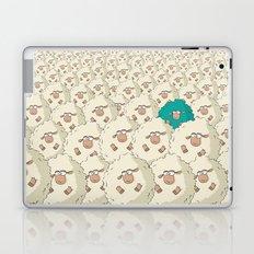 Sheep Pattern   Turquoise Laptop & iPad Skin