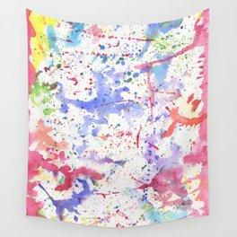 Watercolor Splash Paint Splatter Wall Tapestry