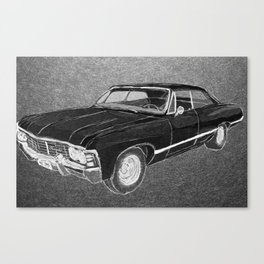 '67 Chevy Impala (Supernatural) Canvas Print