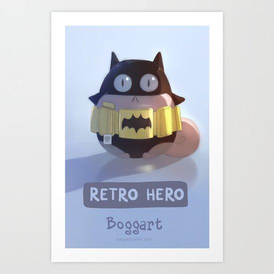 Retro Hero Art Print