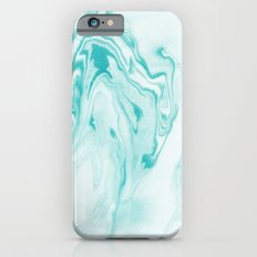 Aimi - spilled ink abstract water wave tropical vacation india ink aqua gender neutral painting boho Slim Case iPhone 6s