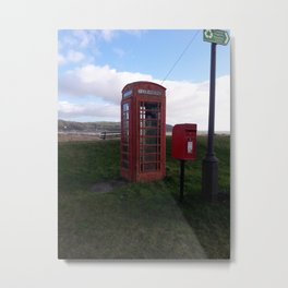 Antique Phone Box - Carmarthenshire, Wales Metal Print