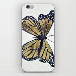 Gold Butterfly iPhone Skin