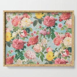 Floral B Serving Tray