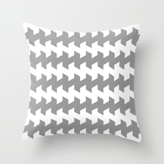 jaggered and staggered in alloy Throw Pillow