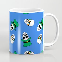St. Paddy's Day Skulls on blue Coffee Mug