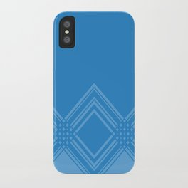 Abstract geometric pattern - blue. iPhone Case