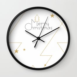 Merry Christmas #society6 #decor #buyart Wall Clock