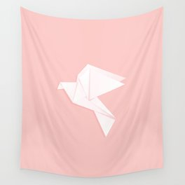 Origami dove Wall Tapestry