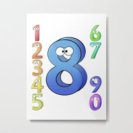 Eight! Metal Print