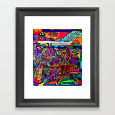A Future Underground City Framed Art Print
