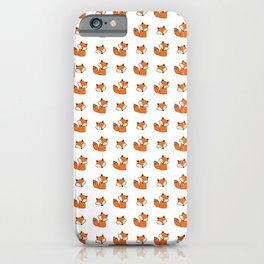 Red foxes pattern iPhone Case