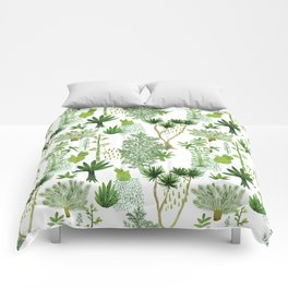 Green jungle pattern Comforters