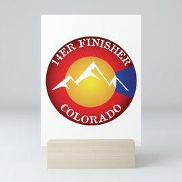 14er Finisher Colorado 14ers Quandary Peak Mini Art Print
