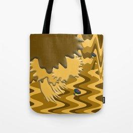 Shades of Brown Waves Tote Bag