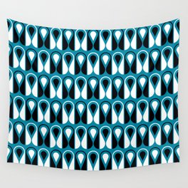 Geometric Pattern 126 (blue loop) Wall Tapestry