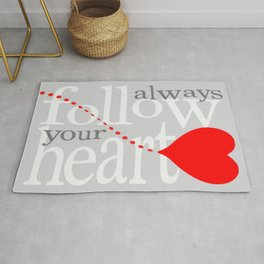 zollione store gift art shop Always follow your heart graphic arts Rug