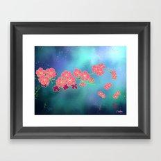 Cherry Blossom Nights Framed Art Print